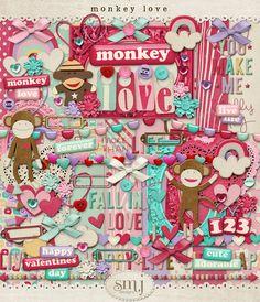 Monkey Love Bundle | Shabby Miss Jenn Designs