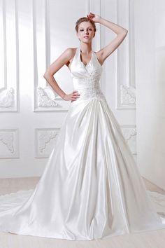 Gorgeous Empire V-Neck Taffeta Chapel Train Wedding Dress WEM05331-TB