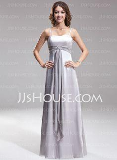 Bridesmaid Dresses - $99.99 - A-Line/Princess Sweetheart Floor-Length Chiffon Charmeuse Bridesmaid Dress With Sash (007001845) http://jjshouse.com/A-Line-Princess-Sweetheart-Floor-Length-Chiffon-Charmeuse-Bridesmaid-Dress-With-Sash-007001845-g1845