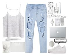 """Work from Home"" by alibasicelma ❤ liked on Polyvore featuring MANGO, Whistles, Sephora Collection, Casetify, NIKE, Nails Inc., Schott Zwiesel, Kate Spade, Kendra Scott and Herbivore"
