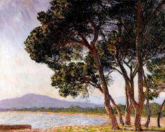Клод Моне - Beach in Juan-les-Pins, 1888. Клод Оскар Моне