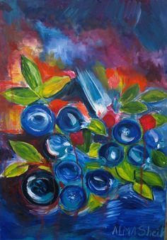 "ALMA SHEIK ""Bluette"" Oil on Canvas 19.68"" x 27.56"""