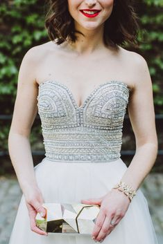 A beautiful bejeweled bodice.