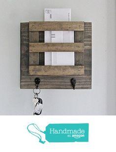 Mail Holder Key Hook Organization Organizer Storage Letters Magazines Wood Rustic Family Farmhouse Reclaimed Barn wood Two Hooks from Sweet Bella Stationery http://www.amazon.com/dp/B01AGJCADE/ref=hnd_sw_r_pi_dp_OPwOwb0EF9XPG #handmadeatamazon