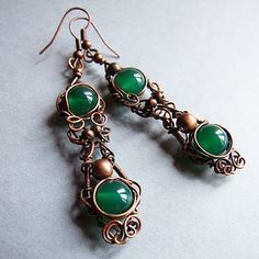 Beautiful wirework and love those green stones!