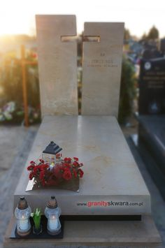 Tombstone Designs, Cemetery, Altar, Funeral, Hot Pink, Gift Wrapping, Memories, Ideas, Gardens