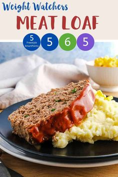 This easy Meatloaf is perfect for anyone following the Weight Watchers program. It is 5 SmartPoints on the Blue, Purple and Freestyle plans and 6 points on the Green plan. It is easy to make, tasty and freezes well. Best of all you get a generous portion for your points with this tasty WW dinner recipe.
