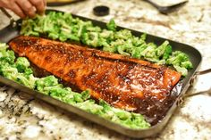 By blending the slightly tart yet sweet flavors from the sauce with garlic, you can turn a good piece of Steelhead Trout into something great. You can also mix the broccoli in the sauce to give it a boost as well. Trout Recipes Oven, Salmon Recipes, Potato Recipes, Fish Recipes, Cooking With White Wine, Cooking Wine, Fish Dishes, Tasty Dishes, Honey Balsamic Glaze