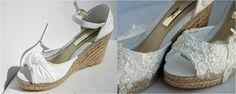 zapatos de novia con cuña de esparto