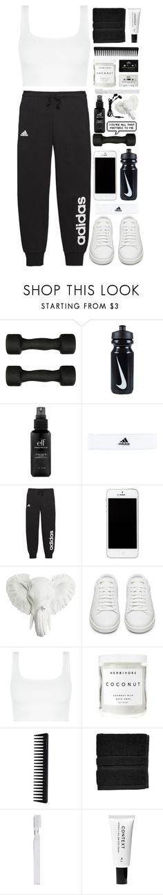 """""""time to work out"""" by jackandalice ❤ liked on Polyvore featuring Casall, NIKE, e.l.f., adidas, Yves Saint Laurent, Herbivore, CASSETTE, Blink, GHD and Waterworks"""