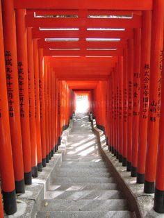 Red Japanese gates