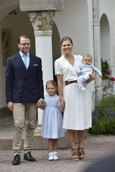 Pin for Later: Princess Victoria Celebrated Her Birthday Wearing Summer's Must-Have Shoe Princess Victoria Wore a White Ruffled Dress For Her 39th Birthday
