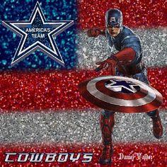 Dallas Cowboys Pictures, Cowboy Pictures, Captain America, Fan, Superhero, Fictional Characters, Dallas Cowboys Pics, Hand Fan, Fantasy Characters