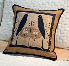 Motawi Songbirds Pillow Maple Furniture, Transitional Bedroom, Throw Pillows, Wall Art, Rugs, Fabric, Bedroom Decor, Accessories, Design