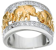 Buy Exquisite 925 Sterling Silver Ring Two Tone Gold Luxury Golden Kawaii Elephant Mascot Diamond Jewelry Birthday Halloween Gift Engagement Party Band Rings for Women Bride Size 6 - 10 at Wish - Shopping Made Fun White Gold Wedding Bands, Wedding Ring Bands, Wedding Jewelry, Silver Bracelets, Silver Earrings, Sterling Silver Jewelry, 925 Silver, Silver Jewellery, Band Rings Women