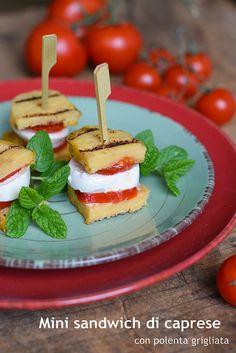 Mini sandich di caprese e polenta grigliata