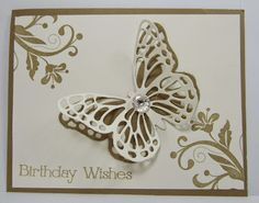 Personally Yours : Stampin' Up! Butterfly Thinlits: BIrthday Wishes