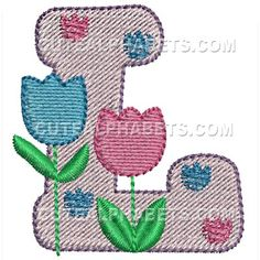 Free Embroidery Design: Letter L