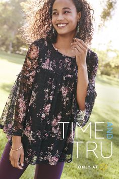 24691f1e8ead3 Channel earthy tones this fall with Time and Tru s autumn outfits. Start  with the soft
