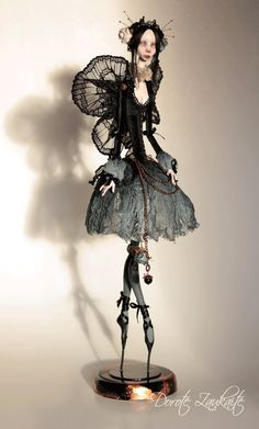 Night Butterfly, Gothic art doll. By Dorote Zaukaite