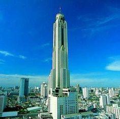 The Baiyoke Sky Hotel, rising above Bangkok's skyline, is Thailand's tallest (as of hotel. Thailand Shopping, Thailand Travel, Bangkok Thailand, Top Hotels, Hotels And Resorts, Thailand Destinations, Cheap Accommodation, Bangkok Hotel, Hotel Website