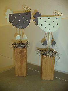 Holzpfosten Deko Hühner Ostern neu!   eBay Spring Projects, Easter Projects, Spring Crafts, Easter Crafts, Fun Crafts, Diy And Crafts, Crafts For Kids, Projects To Try, Arts And Crafts