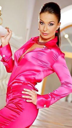 Satin Top, Satin Skirt, Pink Satin, Satin Dresses, Silk Dress, Satin Bluse, Satin Saree, Amai, Blouse And Skirt