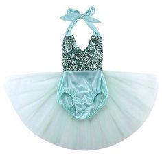 c81e9d8634c5 Light Blue Sequin Tulle Tutu Romper