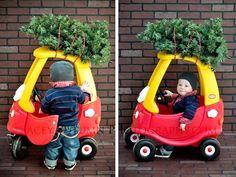 Little boy, Christmas photo, kids christmas photo idea, photo idea, Christmas tree, fun Christmas photo , Hudson Thomas www.JaceyAutumnPhotography.com