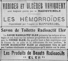 Vintage: When radium was a trend