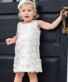 Another great find on #zulily! Ivory Flower Dress - Infant by RuffleButts #zulilyfinds