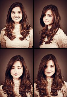 Jenna Louise-Coleman. She's so pretty! - She's gonna make me want to go back to being a brunette