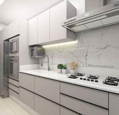 Kitchen Room Design, Kitchen Cabinet Design, Kitchen Layout, Home Decor Kitchen, Kitchen Living, Interior Design Kitchen, Home Kitchens, Modern Kitchen Interiors, Contemporary Kitchen Design