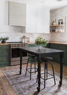 Home Interior Design Riverside Retreat Kitchen Reveal Design Blog, Home Design, Layout Design, Design Design, Green Kitchen, New Kitchen, Kitchen Dining, Kitchen Decor, Olive Kitchen