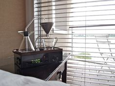 The Barisieur- an innovative alarm clock that wakes you up with a hot cup of coffee! (Someone needs to buy me this.)
