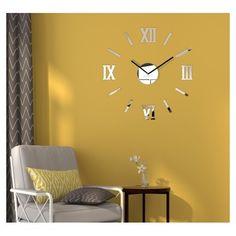 Moderní dekorační hodiny zrcadlo - dumdekorace.cz Stylish Office, Two By Two, Minimalist, Clock, Mirror, Glass, Wall, Design, Home Decor