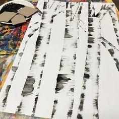 4th grade fall birch trees art lesson, 4th grade fall birch trees art project, fall elementary art, 4th grade art, 4th grade fall art, 5th grade fall art, 5th grade art project