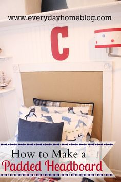 How to Make an Easy NO-SEW Padded Headboard