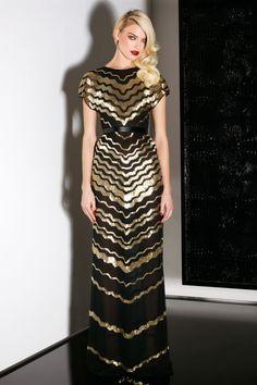 Glam Black and Gold Dress, Jason Wu Pre-Fall 2013