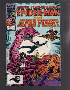 MARVEL TEAM-UP ANNUAL #7 SPIDER-MAN, ALPHA FLIGHT, MARVEL COMICS