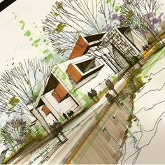 """Architecture - Daily Sketches on Instagram: """"By @mahdi.seddigh #arch_more"""""""