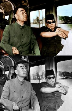 Zhou Enlai & Soekarno - coloring Military Police Army, Socialist Realism, Rare Images, Dance Art, Historical Pictures, Founding Fathers, Illustrations And Posters, World History, My Hero