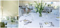 white wedding reception. Southwest Harbor Wedding Photos by Linda Barry Photography