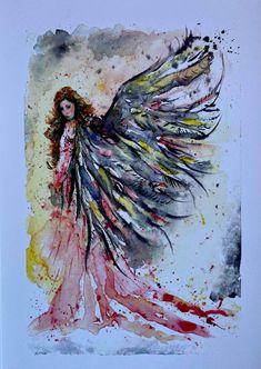 Linda Karslake Paint Studio .5 x 12 inch limited edition prints (4 available) Paint Studio, Set Cookie, Limited Edition Prints, Art Studios, Butterfly, Angel, Painting, Design, Painting Art
