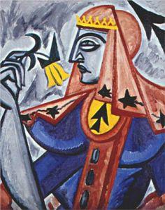 Queen of spades  - Olga Rozanova (1912-1915)