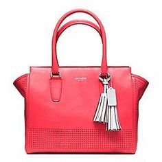 Coach :: Legacy Perforated Leather Medium Candace Carryall