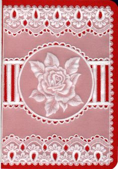 A Single Rose. Just placing vellum over a card makes a simple impression for any occasion.