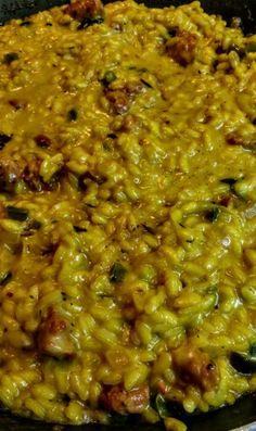 Risotto con longaniza fresca y mantecado de queso fresco artesanal