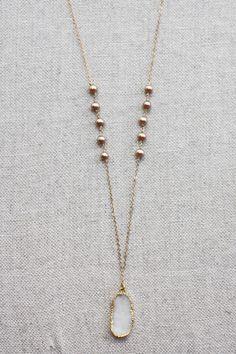 B. Alli White Druzy Necklace