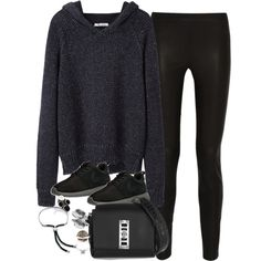 Untitled #2719 by osnapitzmariie on Polyvore featuring T By Alexander Wang, J.Crew, NIKE, Proenza Schouler, Monica Vinader, Alexander McQueen, Yves Saint Laurent and Fendi